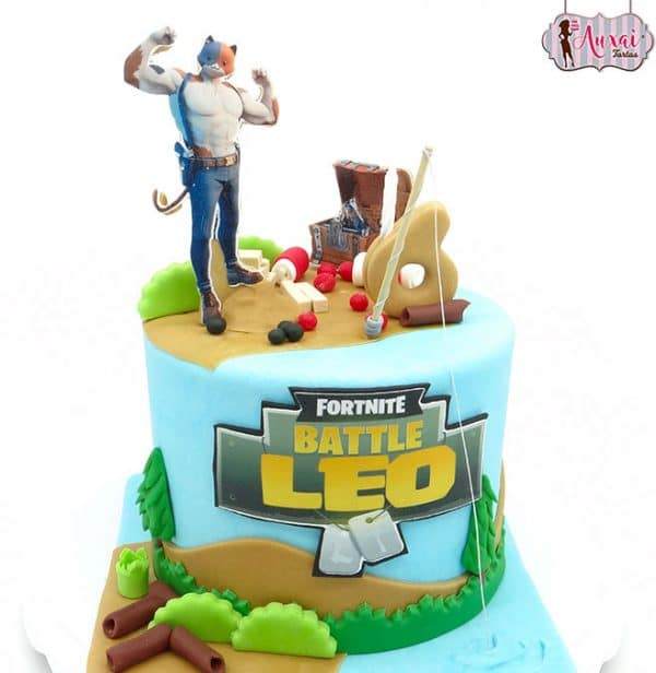 Tarta Fortnite Gato